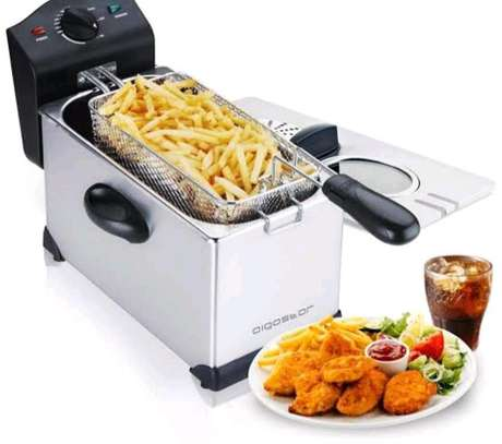 STAINLESS STEEL ELECTRIC DEEP FRYER MACHINE image 1