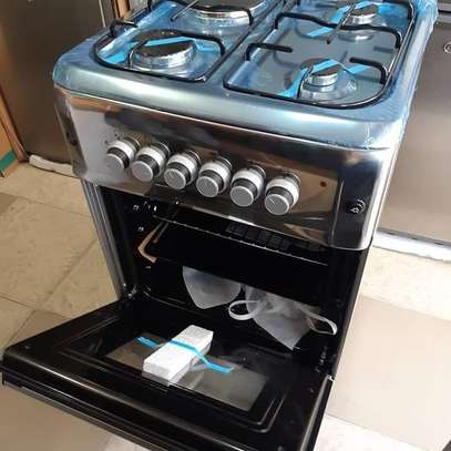 Bruhm standing cooker 3gas + 1 electric 50cm x 55cm color Silver,