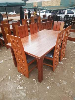 Rectangle dining table with six chairs