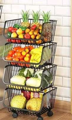 *Metallic 4tier vegetable rack image 1