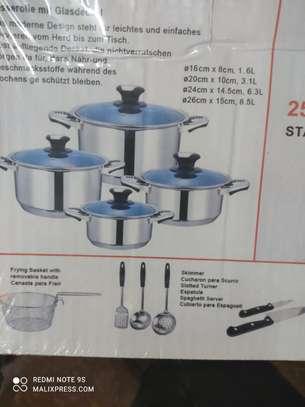 25pieces Harraz stainless steel cookware set image 1