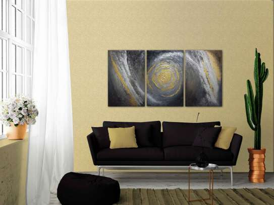 Modern Abstract Textured Decorative Series Painting