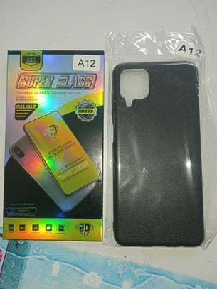 Samsung A12 Cover and Glass Protector(Combined) Available image 2