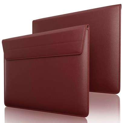 Macbook air/pro/retina Leather Laptop Sleeve Bag For MacBook 15.4inch Dark grey/Brown/Black image 1