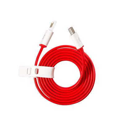 Original For Oneplus 7 7T 7T Pro Warp Charger Cable Usb Type-C Cable Quick Red 1m Charge power data cable image 1