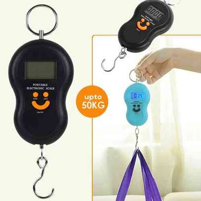 Electronic Digital Scale LCD Weighing Scale 50kg Kitchen Portable Hanging Balance Smile Shape Digital Display Pocket Scale food shopping electronic scale....... image 2