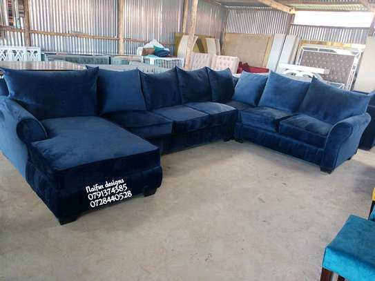 U shaped sofas/modern blue sofas/ten seater sofa image 1