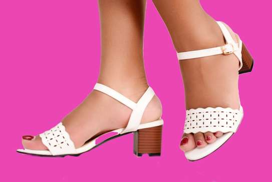 White Pumps Open Toe Formal/Casual Shoes For Ladies image 2