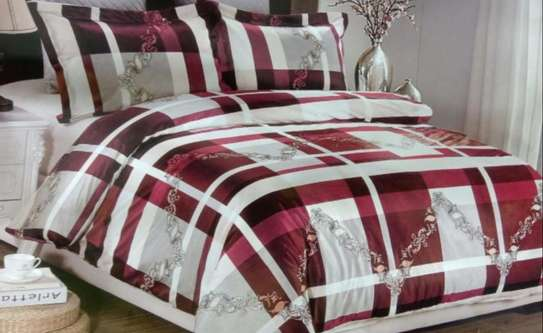 woolen duvet red and white image 1