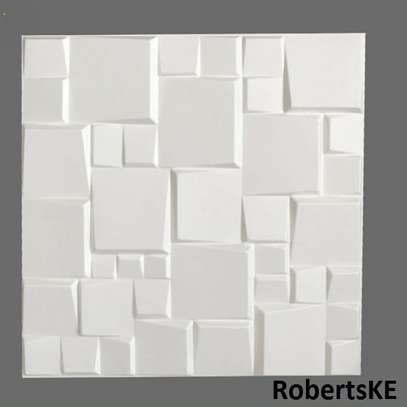 white 3D wall panels image 1