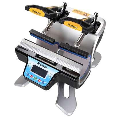 2 in 1 Mug Heat Press Transfer Machine, Automatic Double Station Mug Heat Press Machine Two Mugs Printing at a Time 220V UK Plug image 1