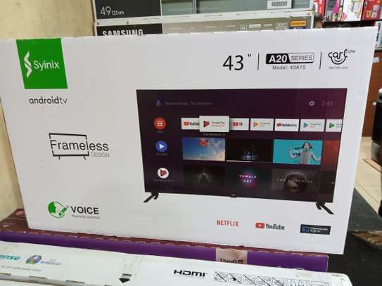 "43"" Synix smart Android frameless full HD tv image 1"