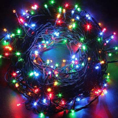 ,Mini String Lights Plug in for Indoor Outdoor Christmas Tree Garden Wedding Party Decoration, Multicolor image 1