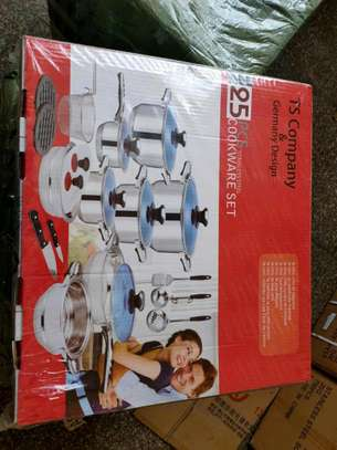 25pc cookware set/stainless steel induction sufuria/induction pot/electric sufuria