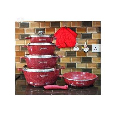 12pcs Heavy Granite Nonstick Cookware Pot/Sufuria Set image 1