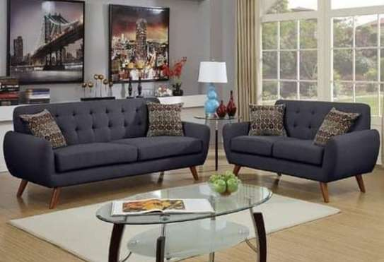 Charcoal grey 5 seater sofa image 1