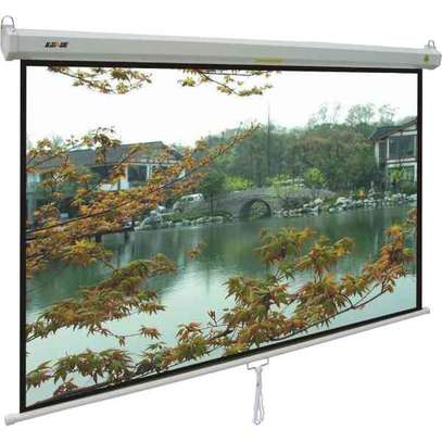 Pull down Projector Screen 96 x96 inches image 1