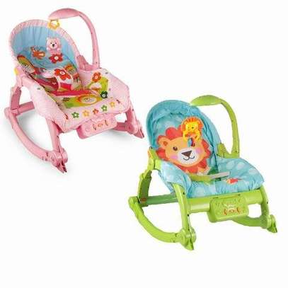 Music and light baby care rocking chair image 1