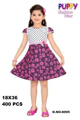 Girls Cotton Dress With Strap