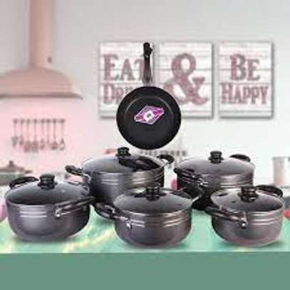 TC Classic Heavy Duty 14 Pieces Non Stick Cooking Pots And Pan image 3