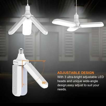Foldable Fan Blade LED Bulb, Super Bright 6500K Energy Saving Lamp for Household and Hallway image 3