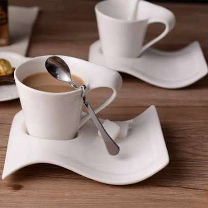 6 pcs Porcelain Cups & Saucers