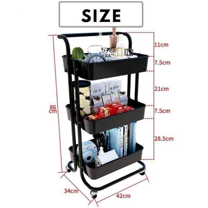 New trolley movable kitchen organizer image 2