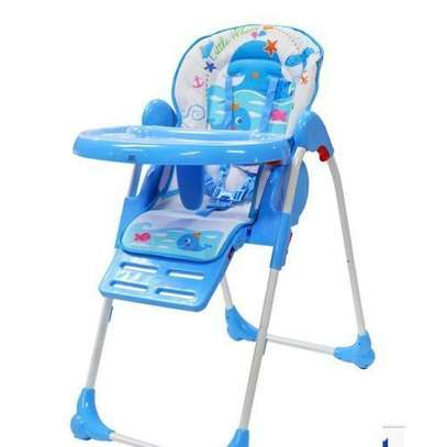 Feeding Chair/Adjustable high chair/ portable kids high chair- Blue image 1