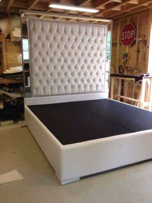 Fabric /Leather tufted beds. image 4