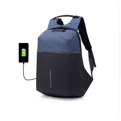 Antitheft Bags With Password Lock And Charging Port - Blue