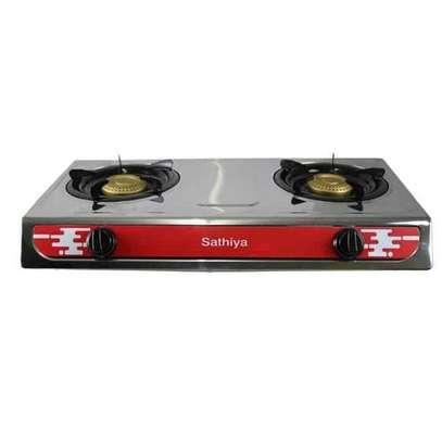 Sathiya Stainless Steel 2-Burner Gas Cooker-Non Stick 2 Burner Stove image 2