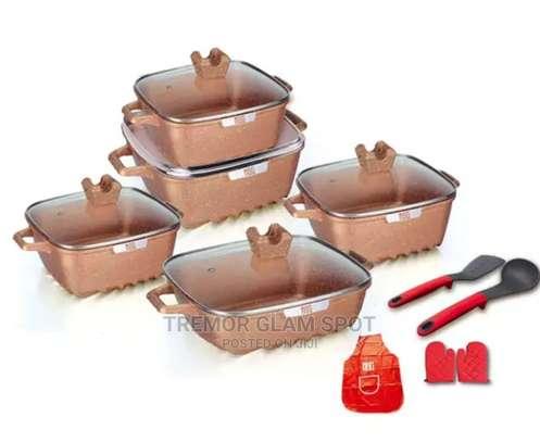 15pcs Square Cookware Sets image 3