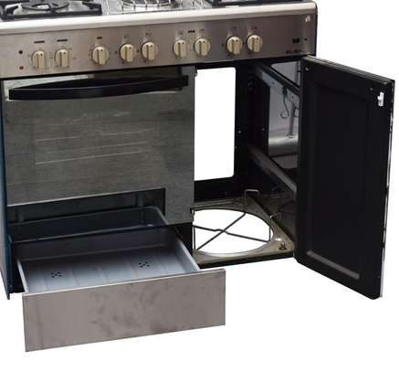 GAS+ 2 ELECTRIC + GAS COMPARTMENT STAINLESS STEEL ELBA COOKER- EB/165 image 3