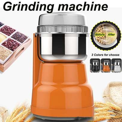 Electric Coffee Grinder Maker Grinding Milling Bean S Orange image 2
