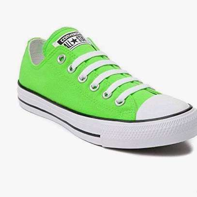 Lime green classy converse sneakers image 1