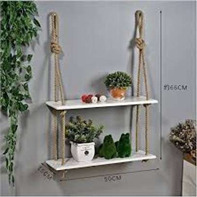 2 layer hanging shelves image 1