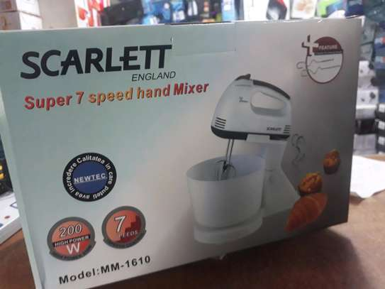 Scarlett Super 7 Speed Hand Mixer with Bowl image 1