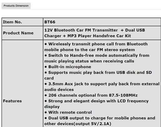 Blue tooth car transmitter kit image 6