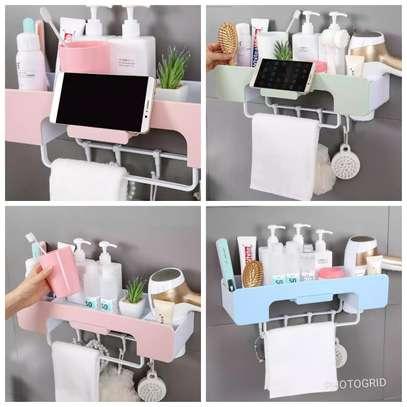 1pc Multifunction Bathroom storage rack image 1