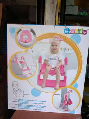 NEW strong portable step ladder potty Seat (2-7 years)- Blue image 3