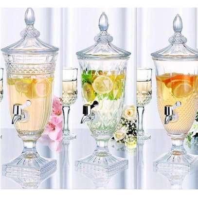Multi-purpose drink dispenser Material heavy glass  Capacity 3ltrs image 2