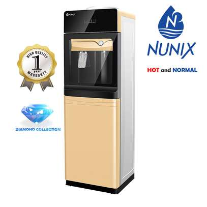 Hot and Normal Free Standing Water Dispenser- Champagne Gold NUNIX image 1