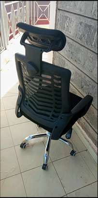 Black colour adjustable office armrest chair image 1