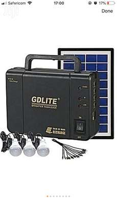 Solar Lighting System With Solar Panel,Battery And Bulbs