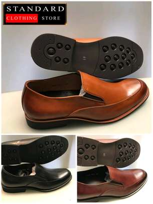 PURE ITALIAN LEATHER SHOES WITH RUBBER SOLE image 7