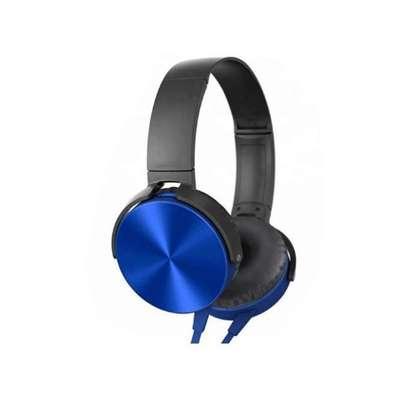 Generic Extra Bass Headphones Headsets Blue image 2