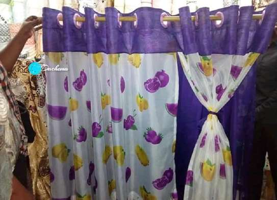purple kitchen curtains image 1