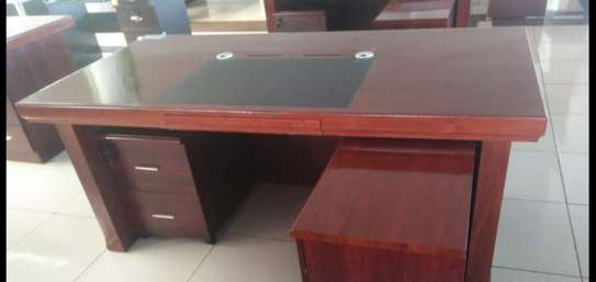 1.6 Meter Mahogany Office Desk image 1