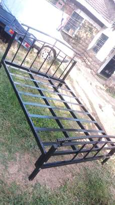 METAL FRAME BED WITH WOODEN FINISH FROM 3*6 TO 6*6 image 4