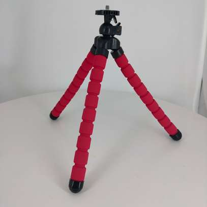 Phone Tripod, Compatible with iPhone, Android, Camera, and gopro, Small and Lightweight Mini Tripod with Flexible Legs (red ) image 7